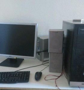 Компьютер + монитор + колонки