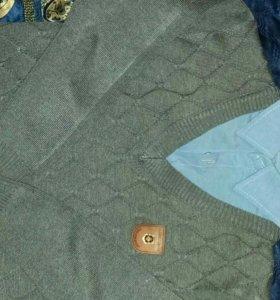 Джемпер с рубашкой(обманка)