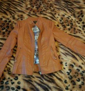 Куртка кожзам xs