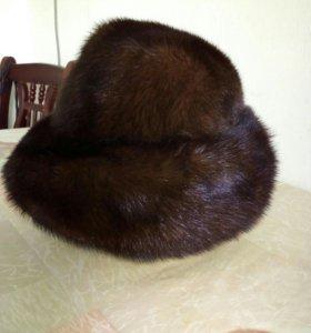 Норковая женская шапкп