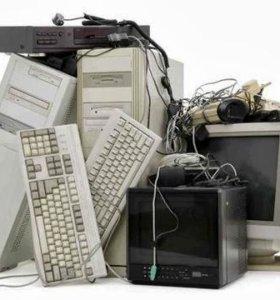 Компьютерная, офисная техника и расходники б/у