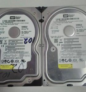 Шесть жестких дисков для ПК 80-120Гб