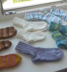 Шерстяные носочки(взрослые 200 р, детские 100 р.)