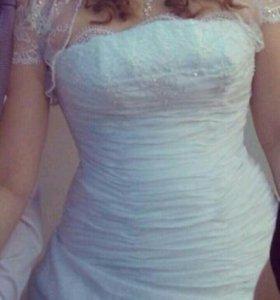 Свадебное платье (с корсетом)