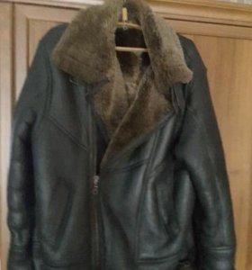 Продам кожанную зимнюю куртку