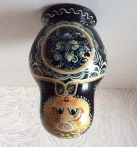 Набор матрешек, к. XX века, ручная роспись