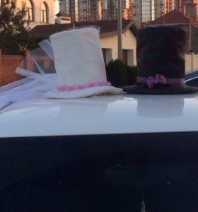 Шляпы на свадебный авто