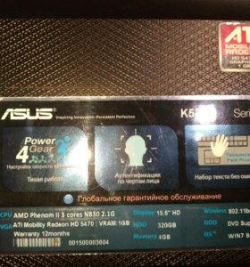 Игровой ноутбук ASUS k52dr