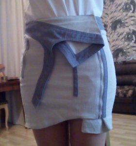 Оригинальная джинсовая юбка