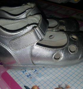 Кожанные туфли для девочку
