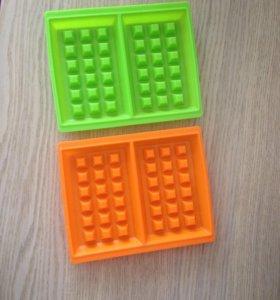 Силиконовые формы для вафель 2шт.