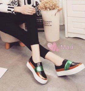 Лоферы ботинки новые
