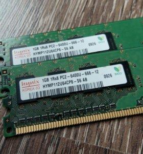 Оперативная память 2gb(1gbx2)