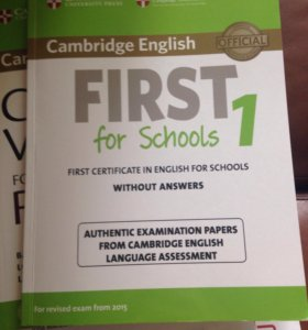 Cambridge English, first for school 1