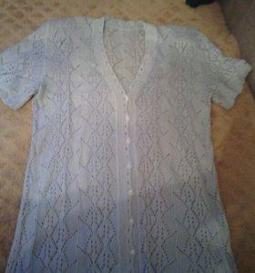 Летняя вязанная кофта 48-50