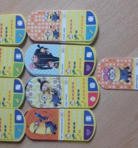 Карточки Гадкий я 3 Миньоны