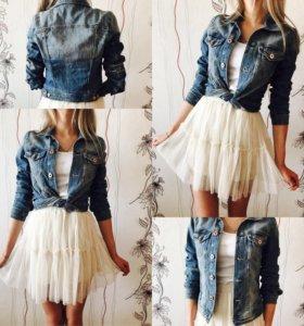 Юбка и джинсовка