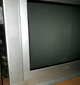 Телевизор с пультом 54см