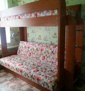 Кровать двух ярусная (торг)