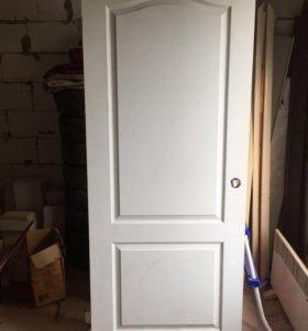 Дверь 80см с петлями