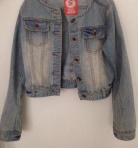 Джинсовая куртка,жилетка ,юбка