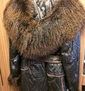 Куртка с мехом, осенне-зимняя