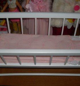 Кроватка-маятник для куклы