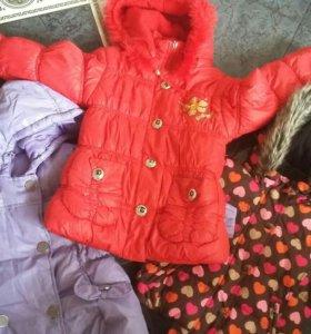 Курточки для девочки4-7лет.