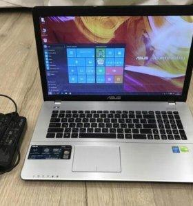 Шикарный большой мощный игровой ноутбук