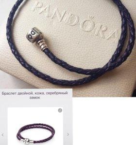 Кожаный браслет Pandora