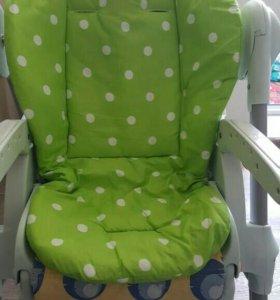 Матрасик в коляску, стульчик, автокресло салатовый