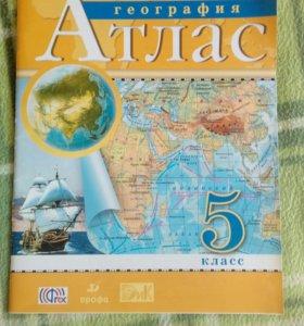 Географический атлас для 5 класса