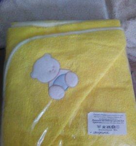 Детское махровое полотенце уголок