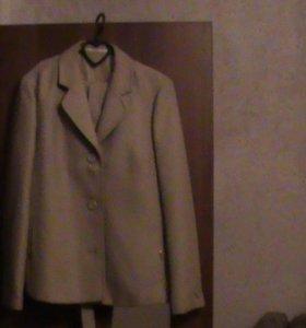 женский костюм (пиджак+юбка+пояс)