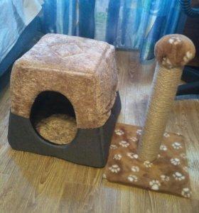 Домик для кошки и когтеточка