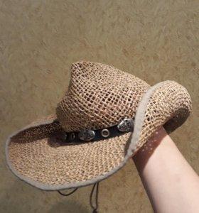 Шляпа ковбойская плетеная