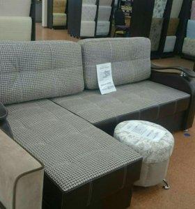Мадонна угловой диван с оттоманкой