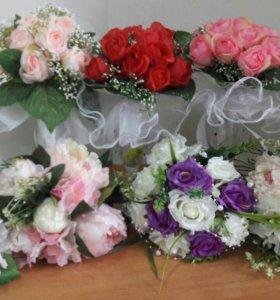букеты для невесты и ее подружек