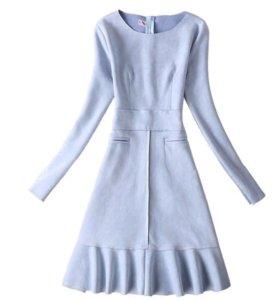 Платье замш