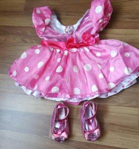 Платье и туфельки Disney baby - mini mouse