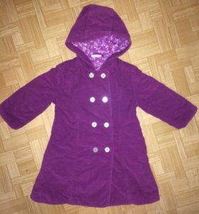 Пальто на 2-3года