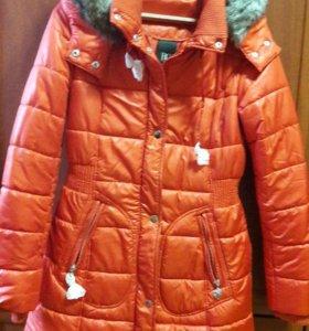 Пальто стеганное новое
