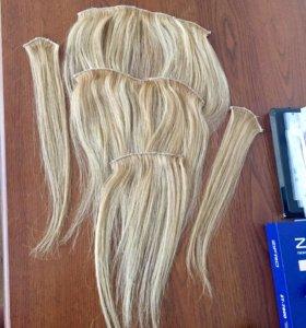 Волосы на заколках натуральные!