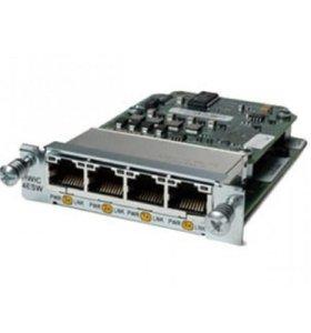 Модуль Cisco Four port 10/100 Ethernet switch