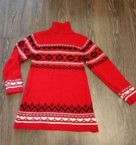 Удлиненная кофта-платье