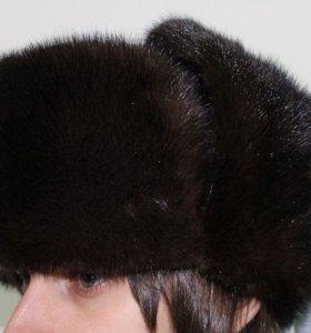 шапку-ушанку мужскую норка