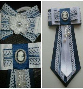 Банты и галстук для школьницы