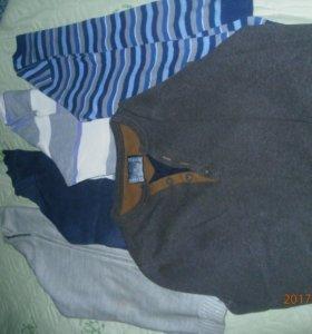 Свитеры и рубашки.
