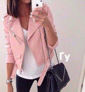 Куртка косуха в наличии цвет пудра