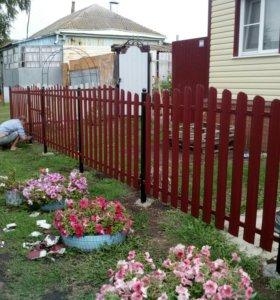 Забор,ворота,калитка,навес